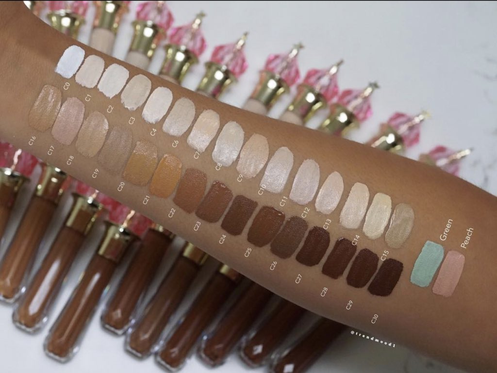 #SWATCHES 🚨 The #MagicStarConcealer Live #Swatches on my YouTube Channel 🙌🏼 LINK ➡️  http://bit.ly/2V2zsTu 😍💗⭐️ Complexion by @JeffreeStar Cosmetics NEW #MagicStarConcealer $22 / 3.5ml Online ▶️ APRIL 19TH @ 10AM PST #jeffreestarcosmetics @beautylish + @morphebrushes
