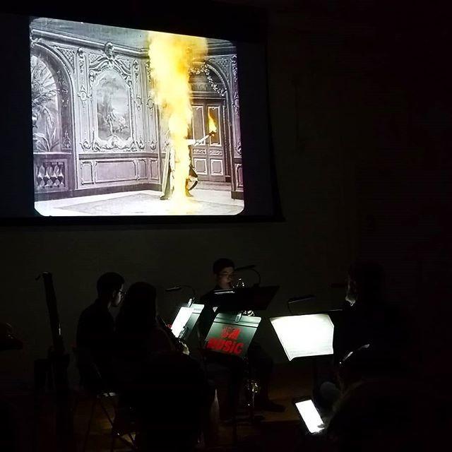 Segundo de Chomon colored films with #umd live music at @spainculture.us #filmhistory #spanishfilm