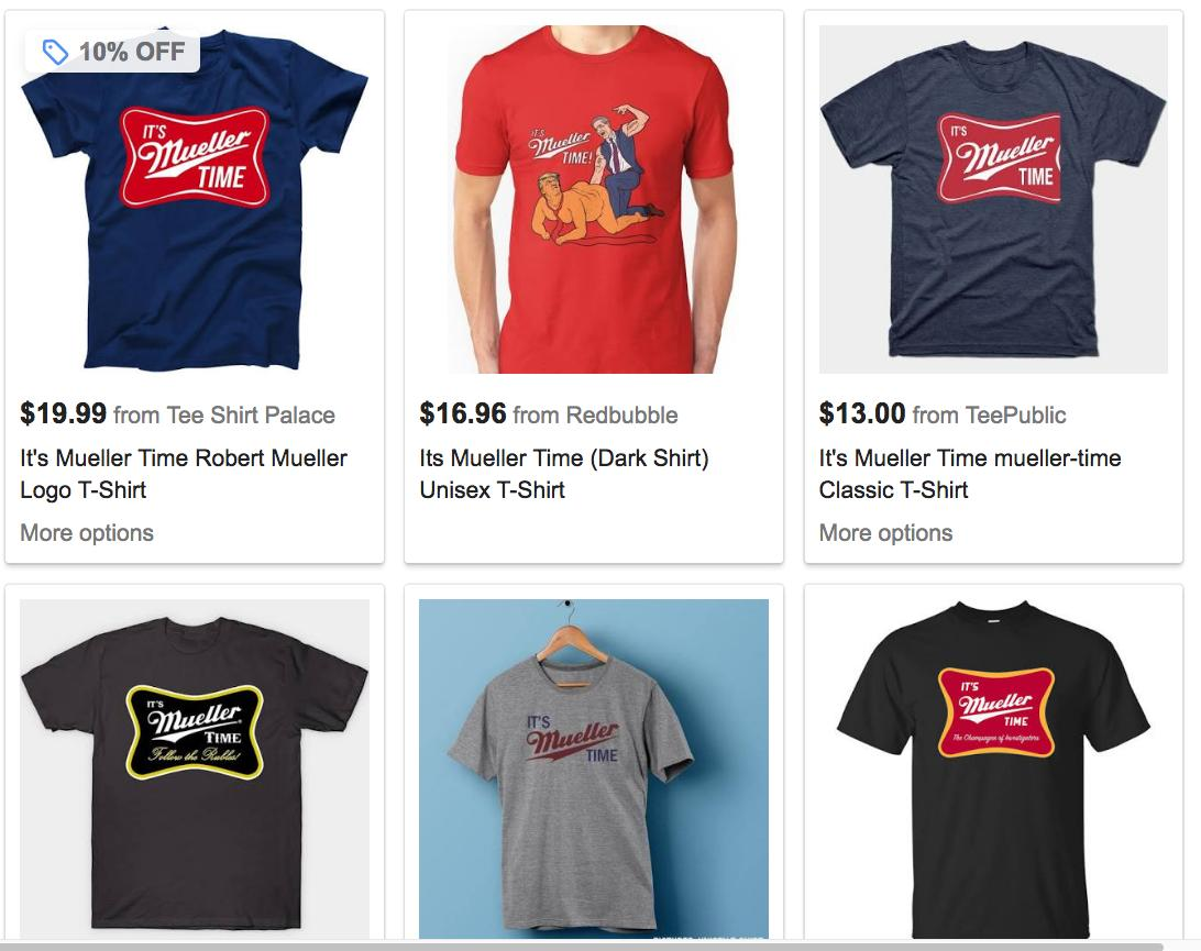 They were even selling &quot;Mueller Time&quot; t-shirts   <br>http://pic.twitter.com/RmlXzGHes9