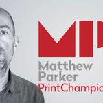 Image for the Tweet beginning: Finally! @PrintChampion Matthew Parker PrintChampion
