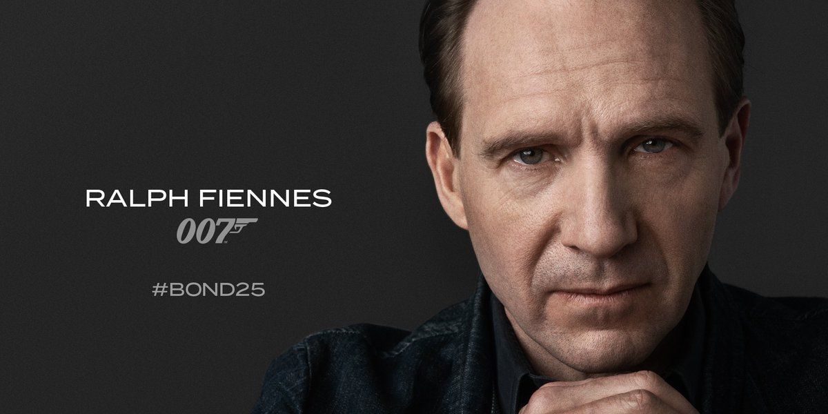 Making sure 007 doesn't cock it up, Ralph Fiennes returns for another mission Bond 25.