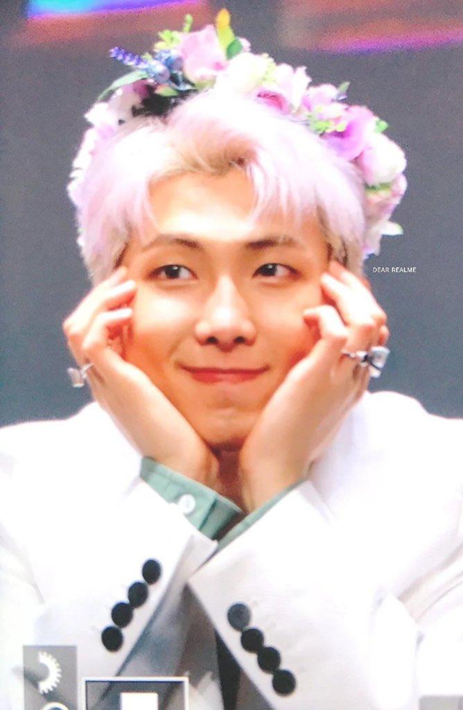 Bora On Twitter The Flower Crown On Namjoon Bbmastopsocial Bts Bts Twt
