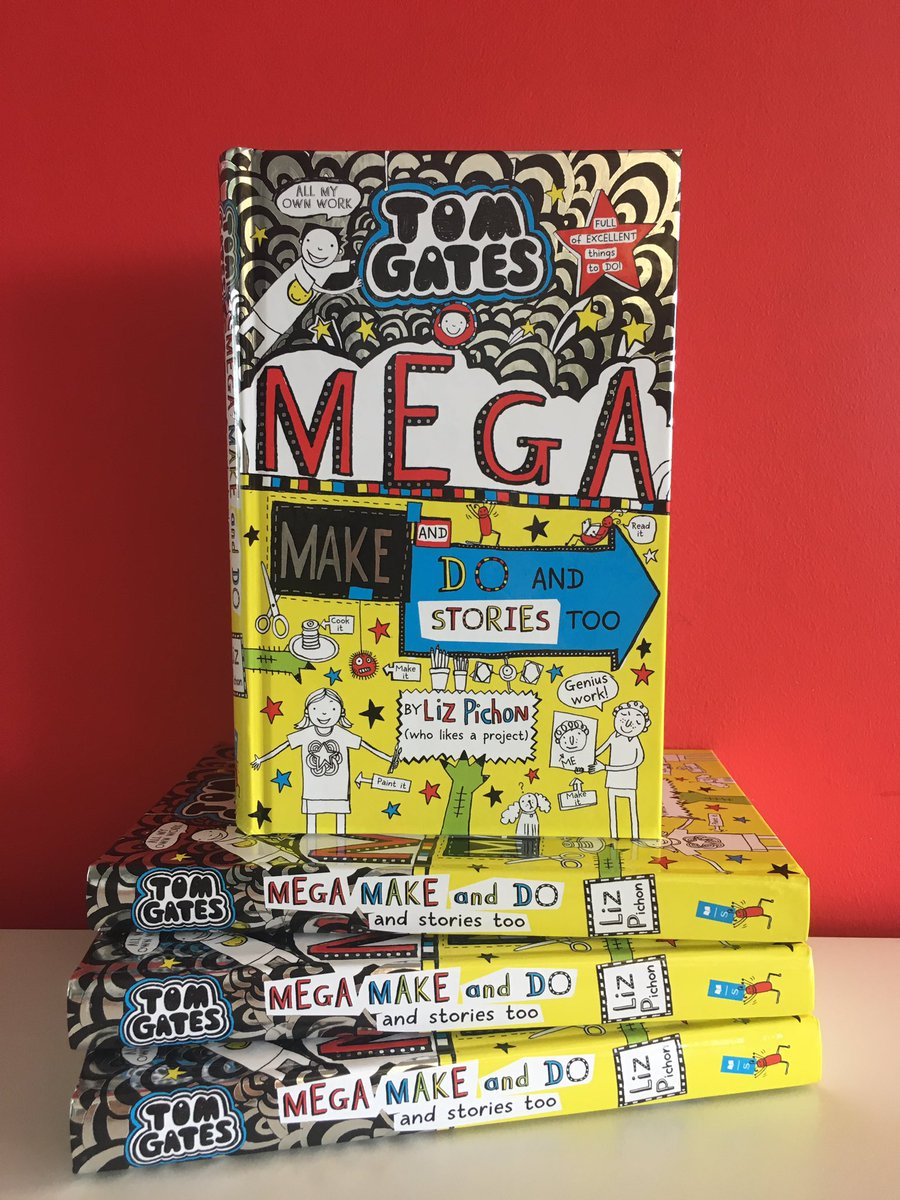 It's just a week until the MEGA new Tom Gates book from bestselling @LizPichon is out - RT for your chance to win an early copy! Don't miss your chance to meet Liz and get your book signed either - find a signing near your here: bit.ly/2WajeFe
