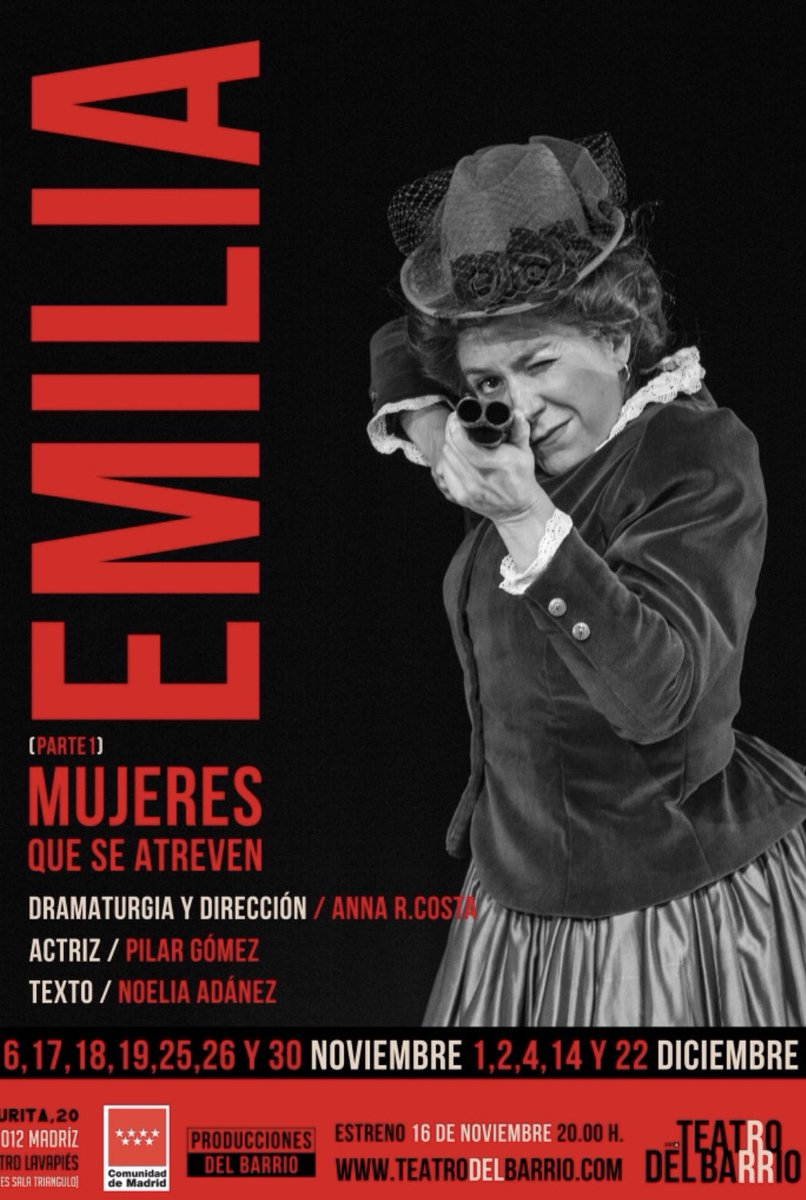 El domingo pasado despedí a #Gloria en @teatrobarrio Este sábado 27 haré lo propio con #Emilia. Seguimos trabajando en el Ciclo #MujeresqueseAtreven Próximas entregas en camino ...
