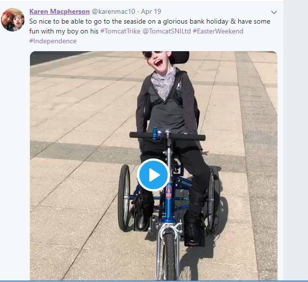 Easter competition winner   Best easter post our followers tagged #tomcattrikes over the #EasterWeekend break goes to @karenmac10 - we love @alexmac06's beautiful smile! Enjoy the treats!!<br>http://pic.twitter.com/iEnT9N9b5X