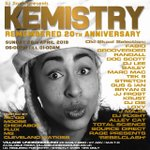 DJ Storm isn't messing around with this line-up. This Sunday will be a true celebration of Kemistry's life. We advise getting your tickets in advance as this will be a sell-out → https://t.co/Y78AyVuLsQ