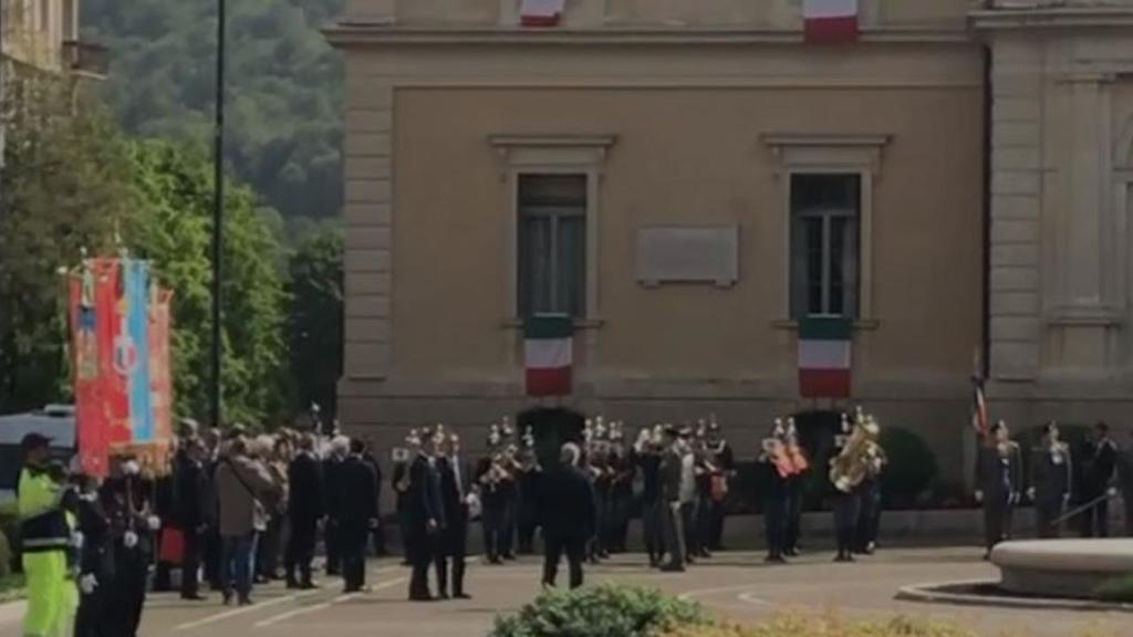 A Vittorio Veneto il presidente Mattarella celebra...