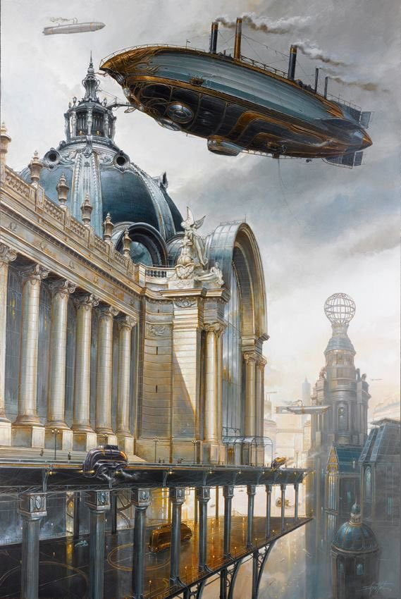 Didier Graffet is one of THE really clever Steam Punk artists . Fab picture.