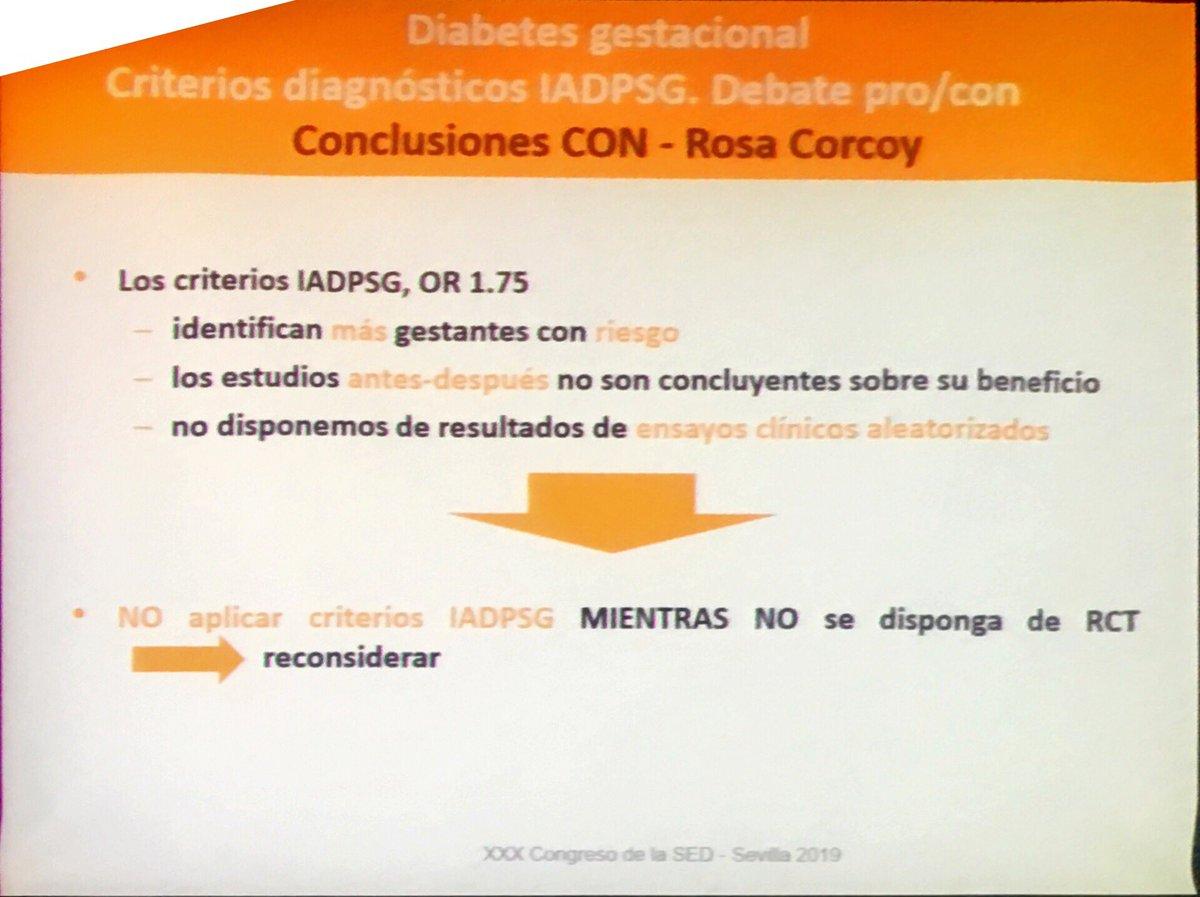 Criterios de diagnóstico de diabetes gestacional 2020