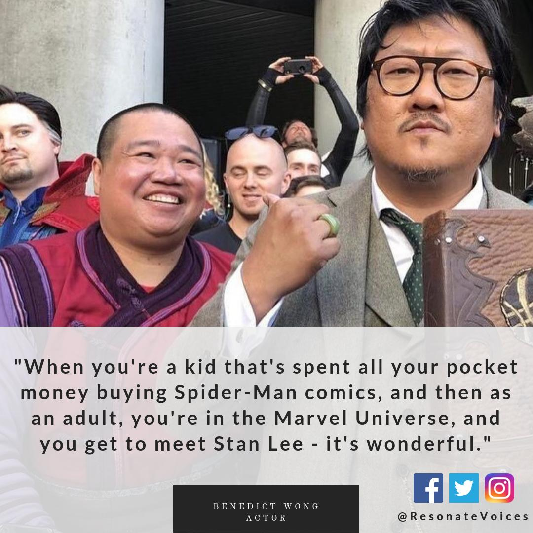 Benedict Wong @wongrel on being a part of Marvel universe  #AvengersEngame<br>http://pic.twitter.com/HukFbcvwu2
