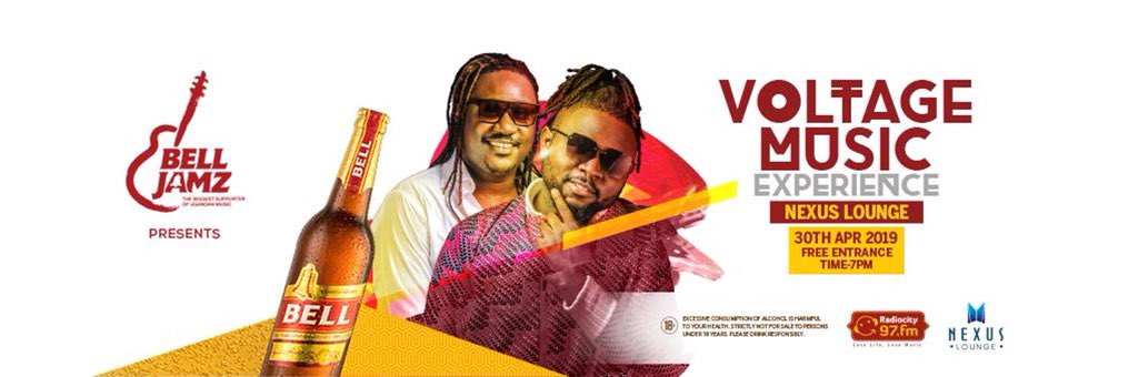 The Biggest Supporter of Ugandan Music @Bell_Lager under their Umbrella #BellJamz presents to you @kentandflosso live in #BellJamzListenersParty on 30th April at @NexusLounge_ug