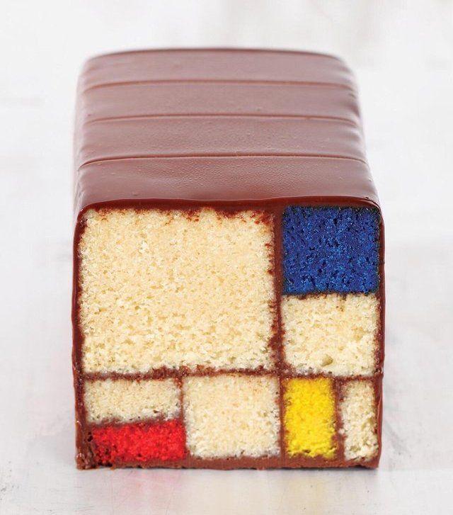 Gâteau Mondrian 😋  Crédits : Caitlin Freeman