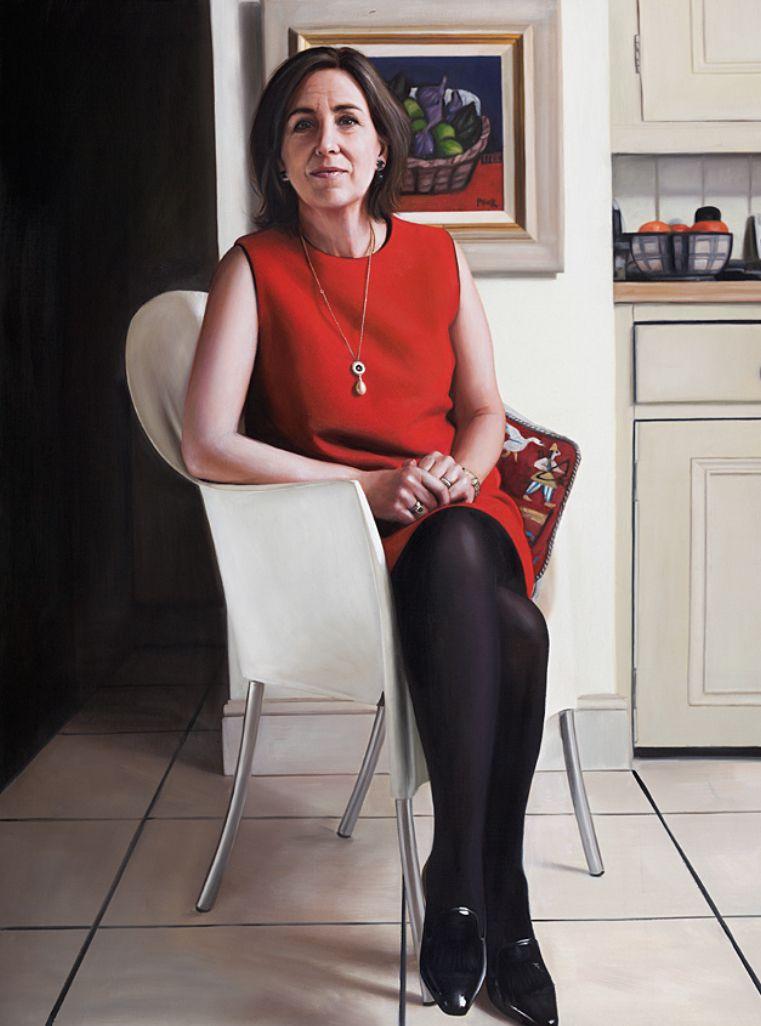 Portrait of Scottish journalist @KirstyWark  #madeinScotland #ScottishArtist #portrait #oiloncanvas #oilpainting #gerardmburns https://t.co/C9z3kwultL