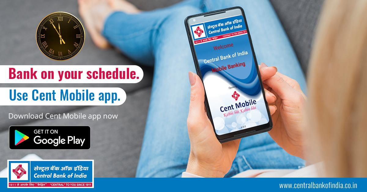 Bank on your schedule  Use Cent Mobile app  Download Cent Mobile app