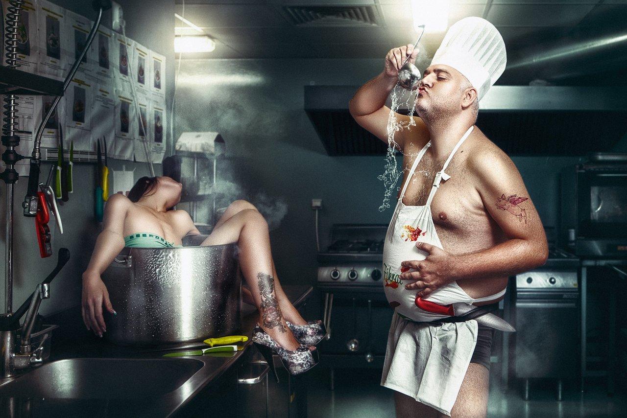 Прикольные картинки мужчина готовит