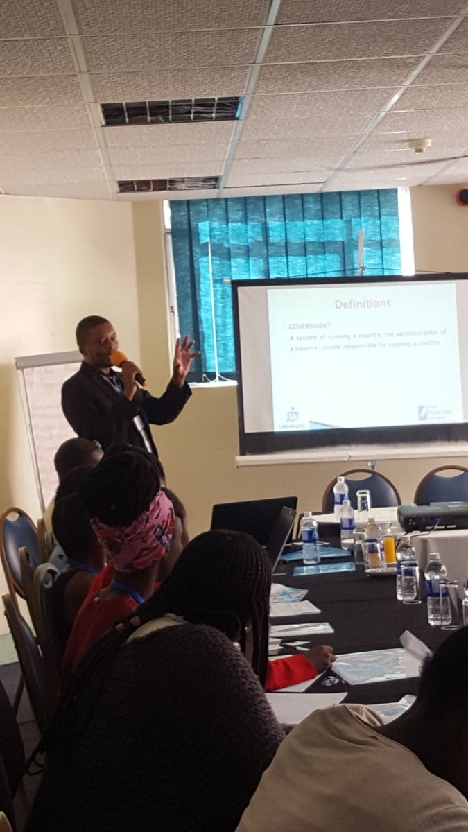 B.H. Moyo from  @municipalreview   presenting on the state of local governance