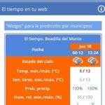 Image for the Tweet beginning: Predicción meteorológica para hoy jueves