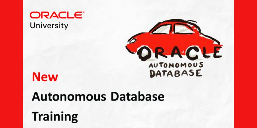 NEW Training - #Autonomous @OracleDatabase is the world's first autonomous #cloud data management solution : Learn how to use ADWC, ATP, Machine Learning, automated patching, upgrades, backups &amp; tuning  http:// bit.ly/2VSfibV  &nbsp;   #emeapartners @Oracleemeaps @fjtorres @Oracle_Edu<br>http://pic.twitter.com/gdYmRwFALY