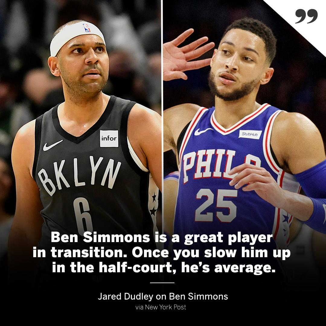 Dudley sharing his thoughts on Simmons 👀