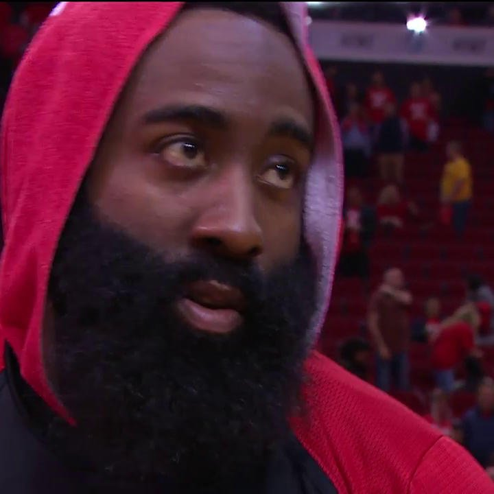 James Harden says it was the defense that impressed him the most as the Rockets got the big win at home!  🎤: @ALaForce  #NBAPlayoffs