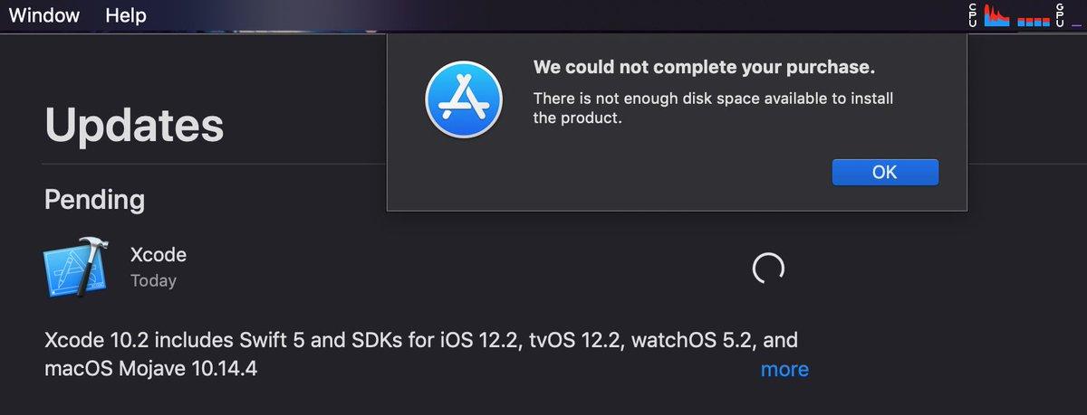 Anyone else having trouble installing Xcode 10 2? I have