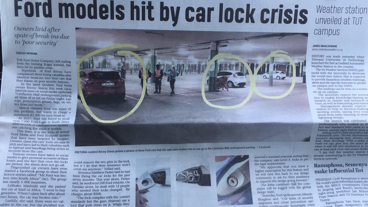@mabena_bob @iamthabomdluli @Ford please give us the assurance that you will attend to this matter and recall all the models to fixed or upgrade the safety feature.