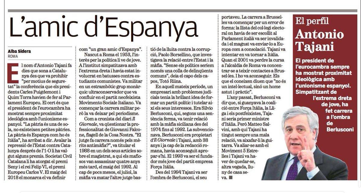 Josep Lluís Alay 🎗's photo on Tajani