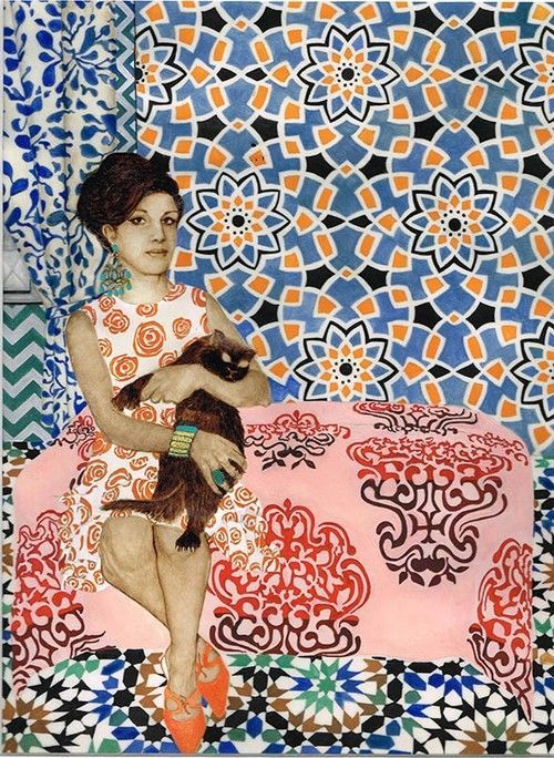 Contemporary Iranian artist Soheila Sokhanvari focuses on themes of identity and portrays mysterious narratives in her artworks #womensart