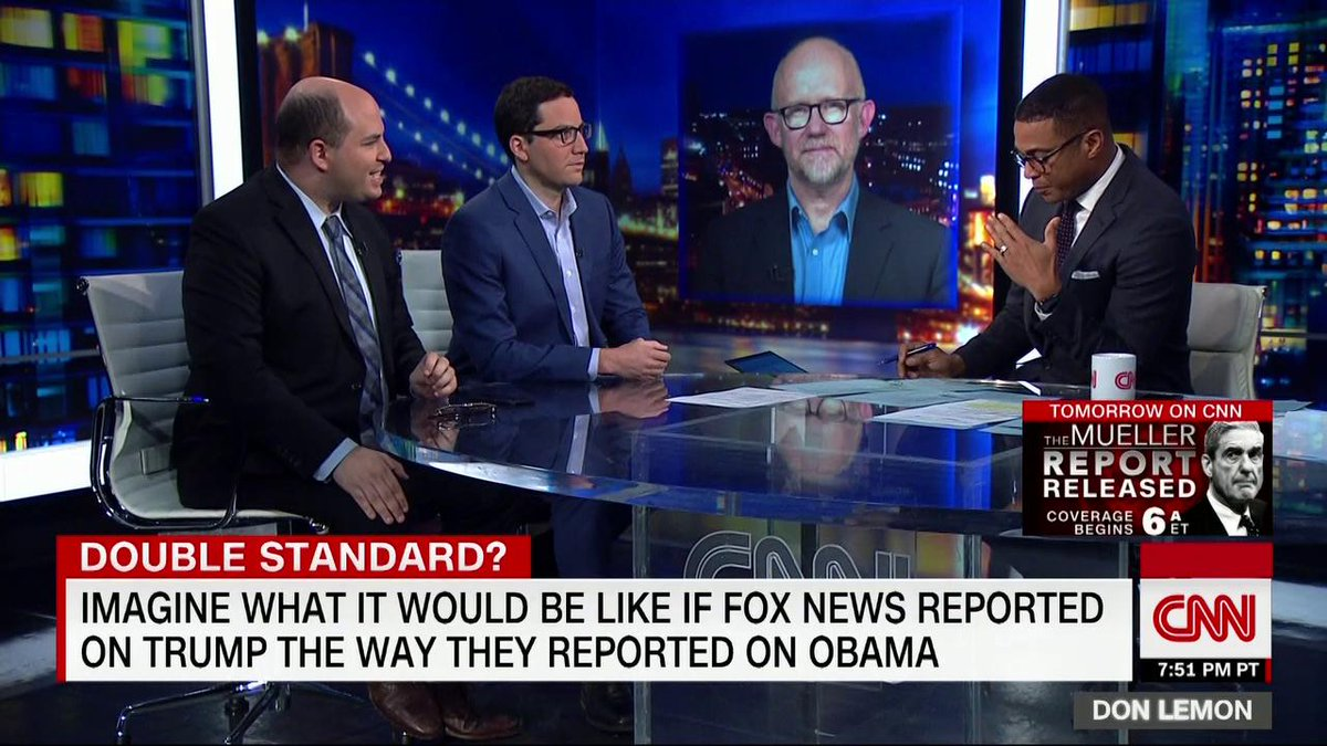 CNNs @DonLemon: A video showing Fox News bashing former President Obama for the same things President Trump does just points out the hypocrisy and the cozy relationship between the White House and Fox News and how Fox News has become state-run TV.
