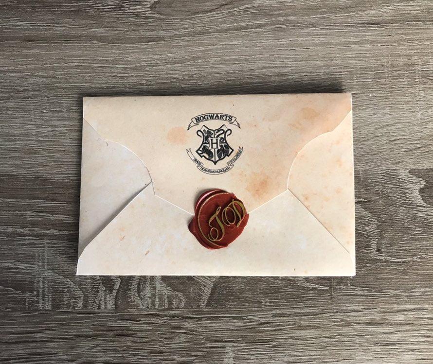 Открытка в виде письма из хогвартса, красиво подписать открытку