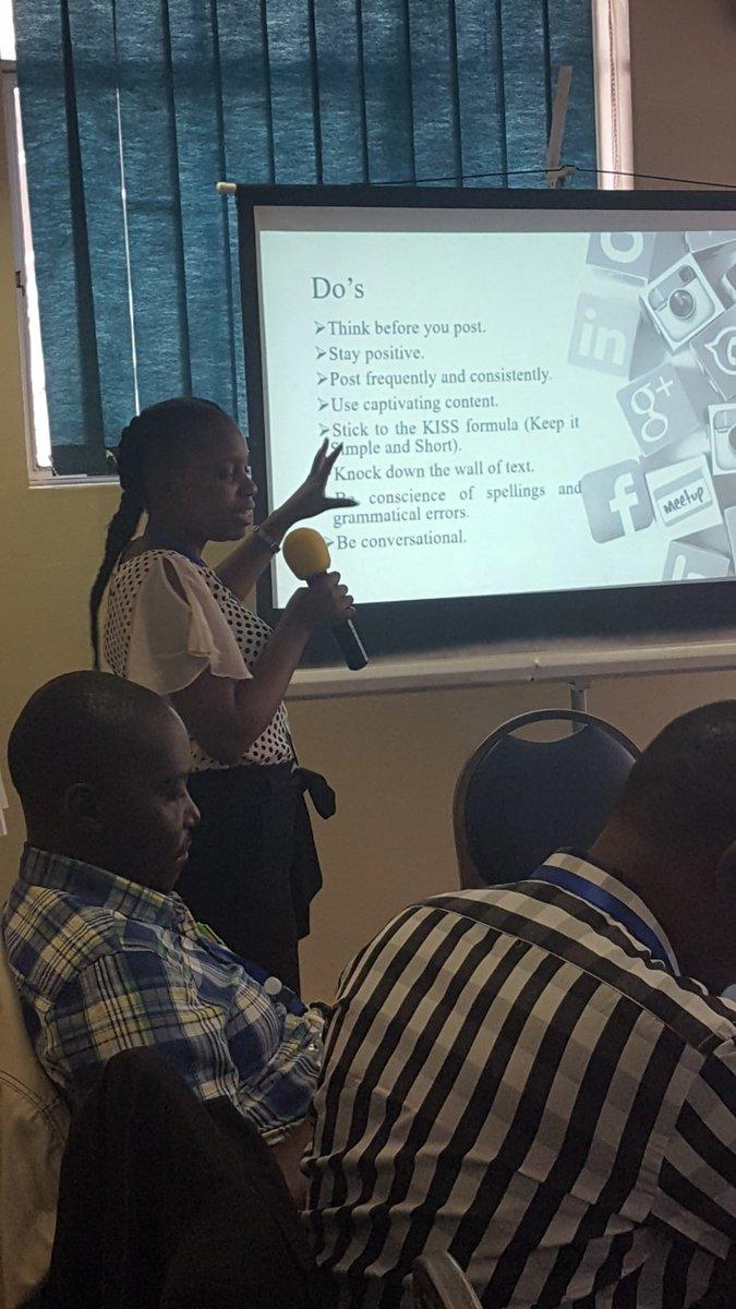 D. Nhokwara presenting on social media ethics and etiquette