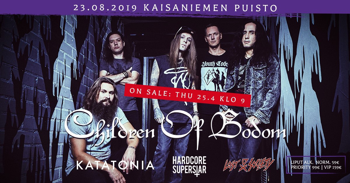 This will be fun. We are excited to join @LostSocietyFI  @KatatoniaBand and #HardcoreSuperstar in Kaisaniemi Park, Helsinki on the 23rd of August!   Tickets go on sale on the 25th of April at 9am! https://t.co/7NNAZaikhD