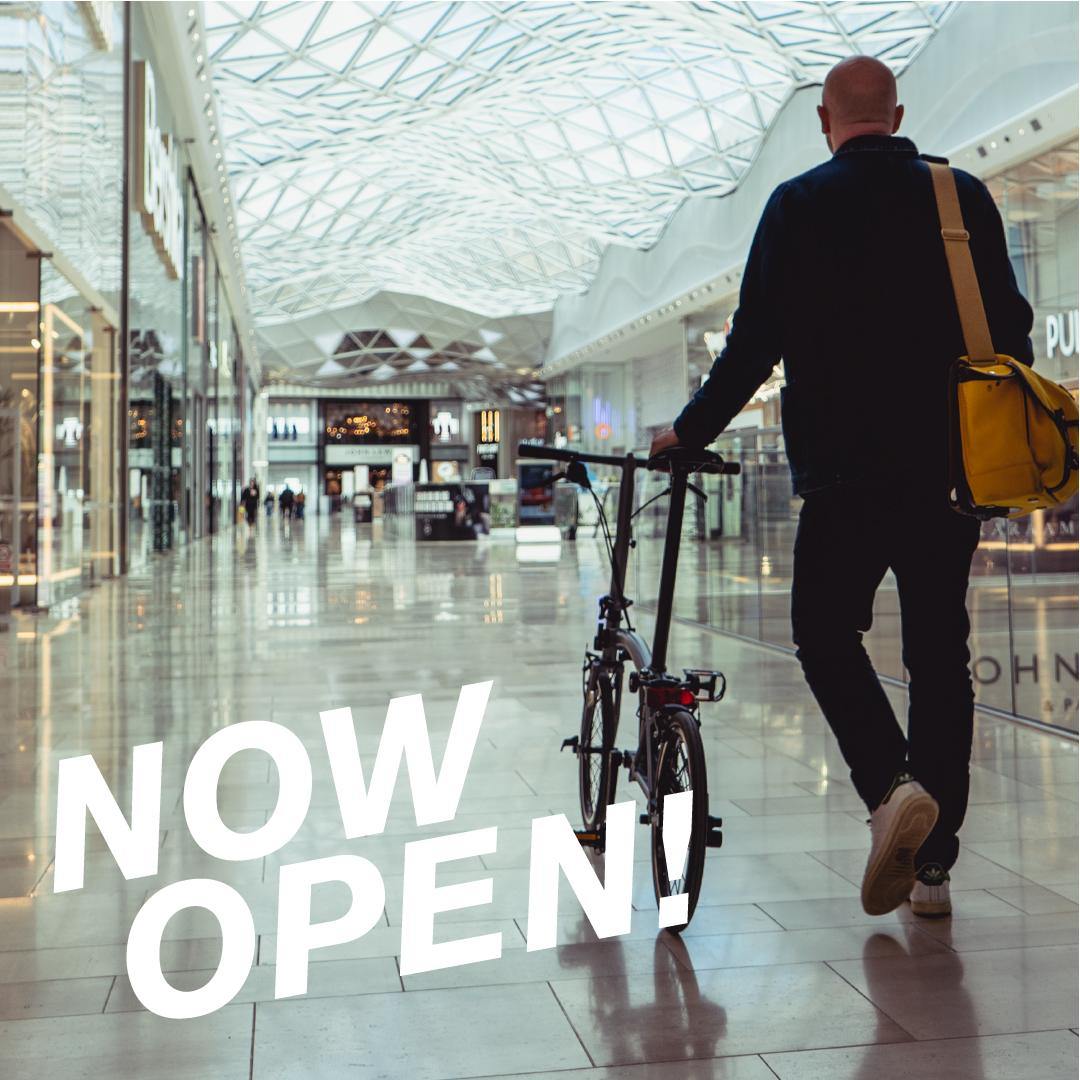 5267622a @BromptonJnLDN at Westfield London is officially open! @westfieldlondon  #BromptonJunction #MadeForCitiespic.twitter.com/Ho5hTH4nth