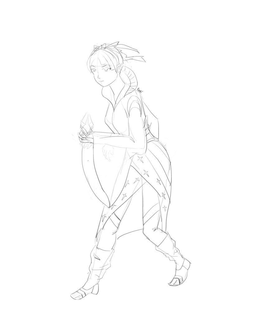 Female Fantasy Char Design sketch  #illustration #artistoninstagram #artistontwitter #イラスト #anime #fantasy #videogameart #gameart #comicart #characterdesign #female #magic #魔法