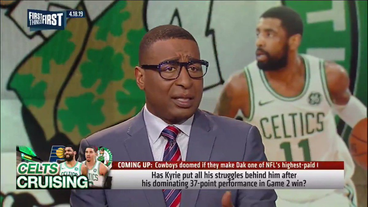 """""""Kyrie Irving's a superstar, he can dominate the whole game. And for the first time, this franchise was his."""" — @criscarter80"""