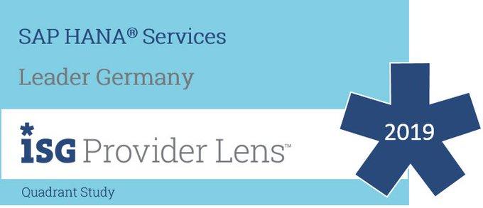 ISG Provider Lens #SAPHANA Services, Germany 2019: Atos ist ein führender Anbieter von SAP...