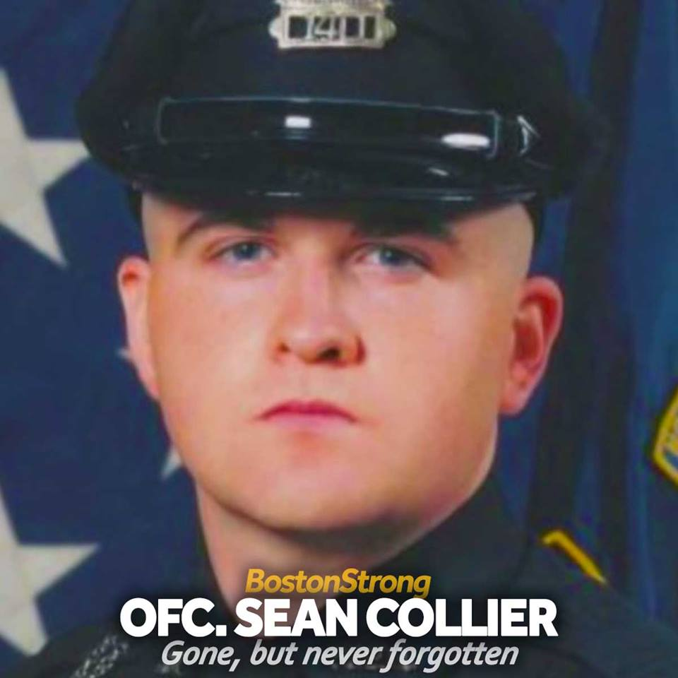 Join us for a moment in remembering and honoring Officer Collier, who was killed in the line of duty 6 years ago today.  #RIP #ThinBlueLine #BostonStrong <br>http://pic.twitter.com/rU6nLIshuf