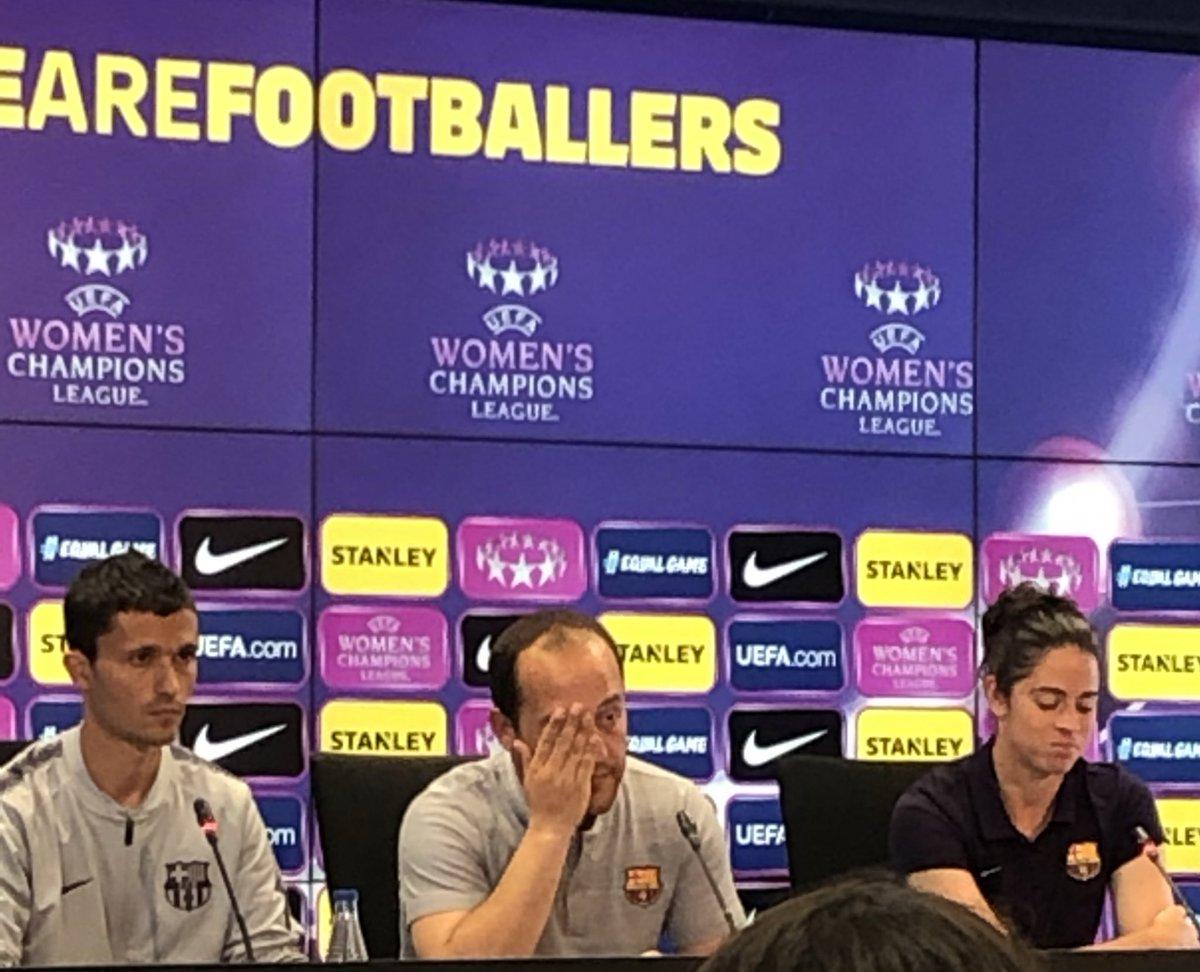 """🎙RDP Lluis Cortés: """"Las principales amenazas del Bayern seguramente es su velocidad y el poderío físico. Las jugadas a balón parado son muy peligrosas.""""   #FCBFemeni #wearefootballers"""