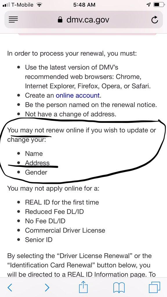 renew drivers license ca fee