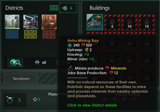 Example Astro Mining Bay On A Habitat Over Planet With Rich Deposits Do Mind That This Is Still WIP