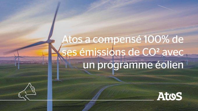 📣Dans le cadre de la lutte contre le réchauffement climatique, Atos a compensé la...