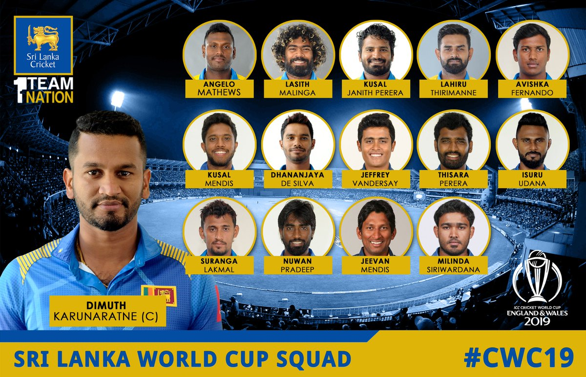 Sri Lanka Cricket On Twitter Sri Lanka Squad For Icc