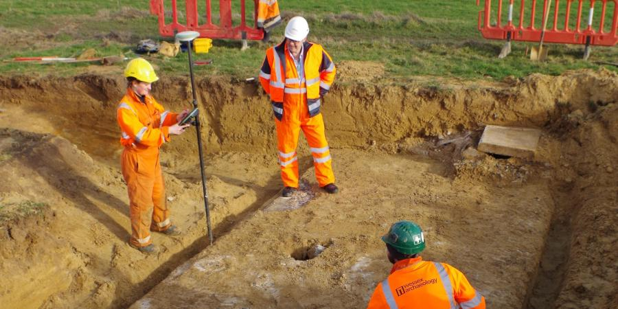 We've uncovered an interesting Cold War Underground Monitoring Post (UGMP) during works for @balfourbeatty as part of @WokinghamBC Major Highways Programme - find out more here:  https://www.wessexarch.co.uk/news/unusual-cold-war-reminder-uncovered-arborfield-cross … #coldwar #archaeology #history #news #highways #construction #construction