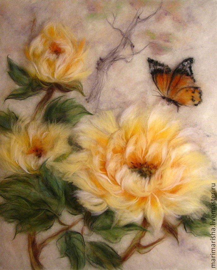 Картинки для живописи шерстью, открытки