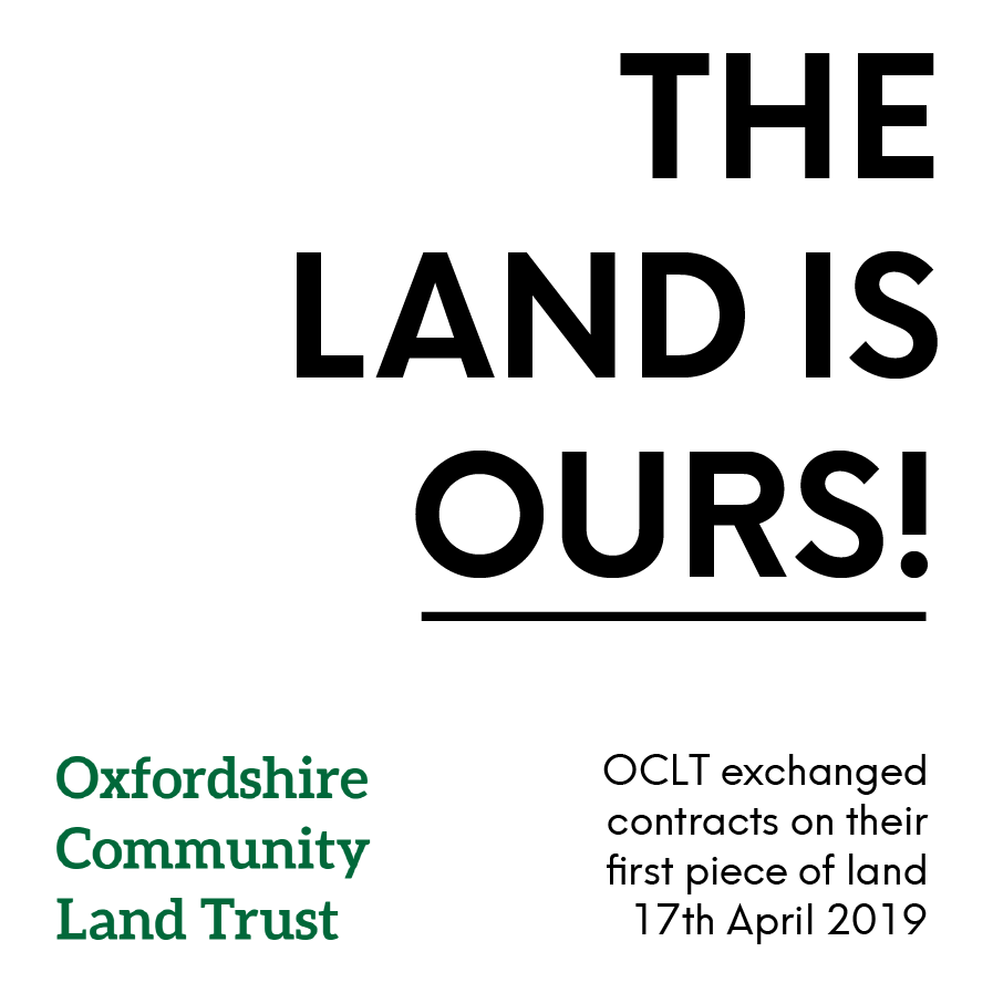 This is fantastic news! Congratulations to @OxfordshireCLT .  They've managed to secure land where they'll be building eight new homes.  Land and housing owned by local people forever. #hopeforhousing #communityledhousing #communitylandtrusts