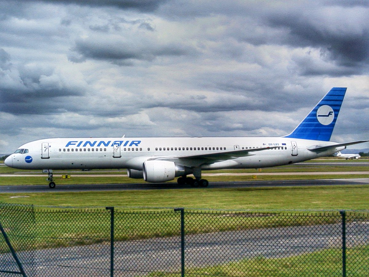 RT @jamesw85562: Boeing 757-200 of @Finnair seen at @manairport in July 2003 #AvGeek #tbt https://t.co/9q8SYnsOz3