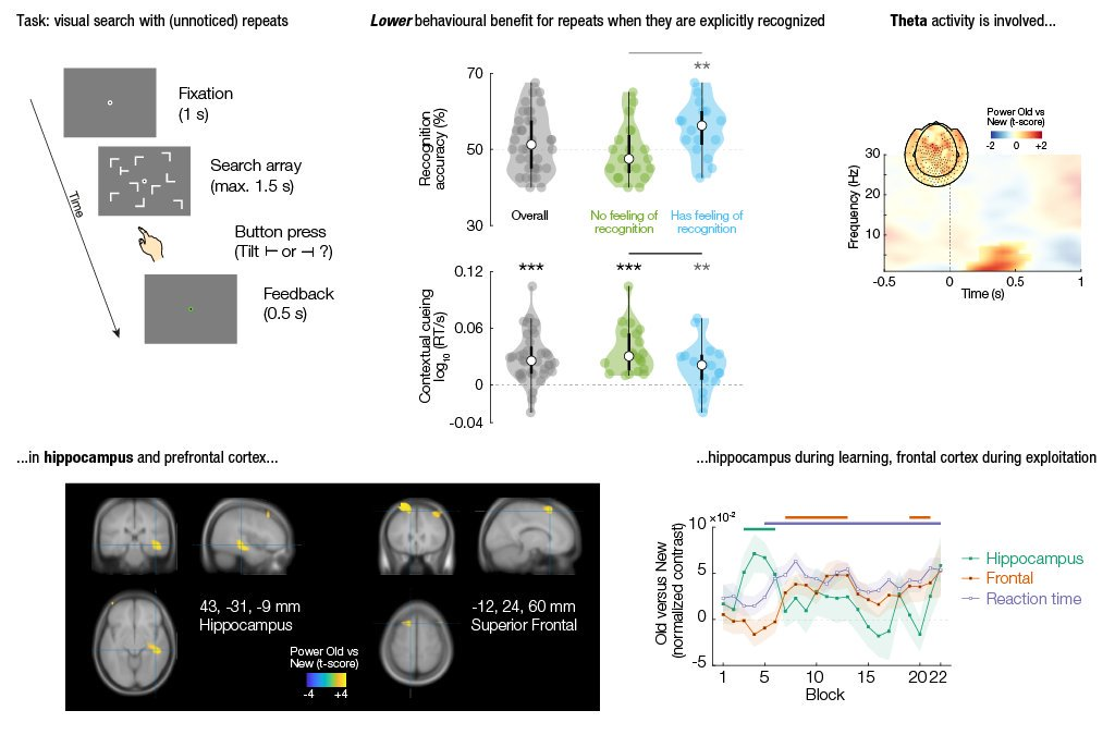 New preprint online with @flodlan! Implicit spatial context learning involves hippocampal theta, exploitation of learned knowledge involves frontal theta. More implicit == more behavioural benefit! https://www.biorxiv.org/content/10.1101/611129v1…