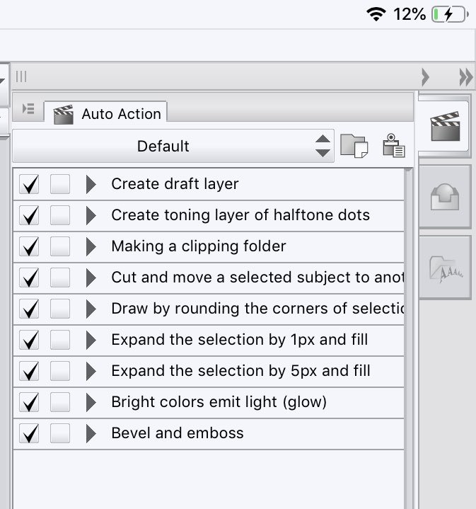 Let's talk autoactions in @clipstudiopaint ! Autoactions are a way to automate repetitive tasks - that's it. You simply start recording you're action, perform a bunch of steps and then stop recording, next time you want to do the same steps - you just hit play! <br>http://pic.twitter.com/2qzRefnLlP