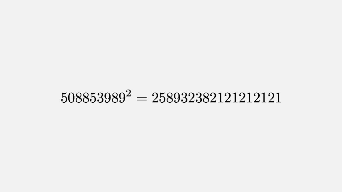If a² ends in the pattern xyxyxyxyxy, then xy is either 21,61 or 84.