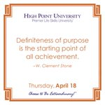 [CALENDAR] #DailyMotivation from W. Clement Stone. #HPU365